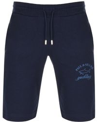 Paul & Shark - Paul And Shark Sweat Shorts Navy - Lyst