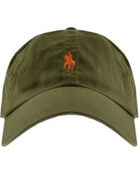 ca5b8c43f10 DSquared² Mens Strip Logo Cap Khaki in Green for Men - Lyst