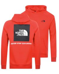The North Face - Raglan Red Box Hoodie Red - Lyst