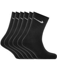 Nike - Six Pack Socks Black - Lyst