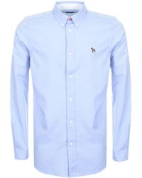 Paul Smith - Ps By Long Sleeved Shirt Blue - Lyst