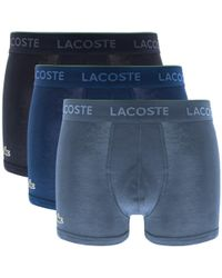Lacoste - Underwear Triple Pack Boxer Trunks Blue - Lyst