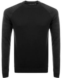 Ted Baker - Cornfed Crew Neck Knit Jumper Grey - Lyst
