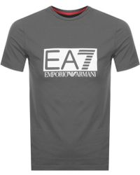 EA7 - Visibility T Shirt Grey - Lyst