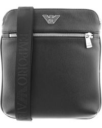Armani - Emporio Logo Shoulder Bag Black - Lyst