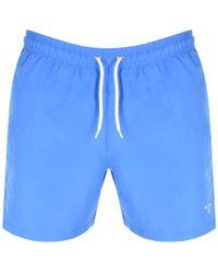 Barbour - Logo Swim Shorts Blue - Lyst