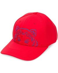 KENZO - Tiger Embroided Cap - Lyst