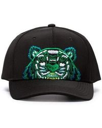 KENZO - Embroided Tiger Canvas Cap - Lyst