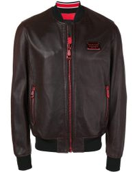 a6f05605f9 Philipp Plein Punk Is Plein Studded Leather Jacket in Red for Men - Lyst
