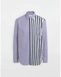 Maison Margiela - Asymmetrisch gestreiftes Hemd mit Tasche im Décortiqué-Stil - Lyst
