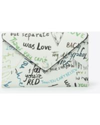 Maison Margiela - Printed Leather Envelope Wallet - Lyst