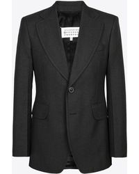 2d81a7392b45 Maison Margiela Toggle And Rope Blazer in Gray for Men - Lyst