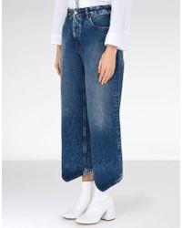 MM6 by Maison Martin Margiela - Diamond-cut Jeans - Lyst