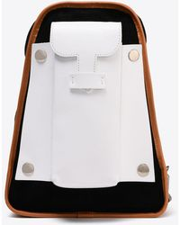 Maison Margiela | Suede And Leather Backpack | Lyst