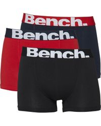 Bench - Three Pack Trunks Black/red/navy - Lyst