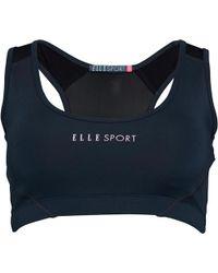 ELLE Sport - Panelled Performance Sports Bra Top Petrol/soft Pink/black - Lyst