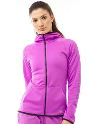 New Balance - Accelerate Tech Poly Fleece Full Zip Hoodie Vivid Violet - Lyst