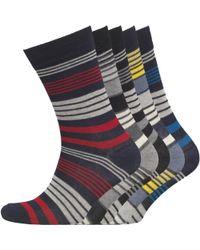 Jack & Jones - Luigi Five Pack Socks Light Grey Melange - Lyst