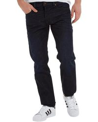 DIESEL - Buster 0823k Tapered Fit Jeans Blue Wash - Lyst