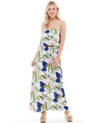 ONLY - Nova Strap Maxi Dress Cloud Dancer/blooming Flower - Lyst