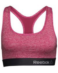 Reebok - Simone Performance Sports Bra Top Pink - Lyst