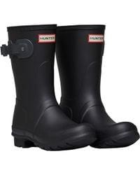 HUNTER - Original Short Wellington Boots Black/dark Slate - Lyst