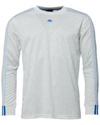 adidas Originals - X Alexander Wang Soccer Long Sleeve T-shirt Core White - Lyst