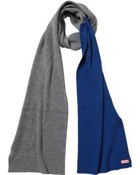 HUNTER - Original Moustache Merino Wool Scarf Slate/deep Cobalt - Lyst