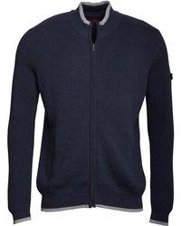 Ben Sherman - Zip Thru Panel Knit Top Dark Blue Marl - Lyst