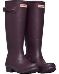 HUNTER - Original Classic Tall Matt Wellington Boots Black Grape - Lyst