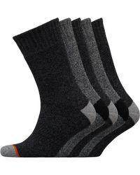 Weatherproof - Five Pack Thermal Crew Socks Black/grey - Lyst
