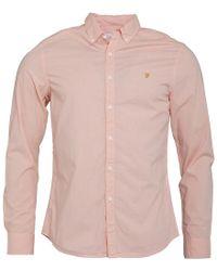 bb17946d0e39 Farah Ashtead Slim Fit Long Sleeve Shirt Blossom Pink in Blue for ...