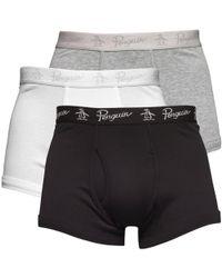 Original Penguin - Three Pack Boxers White/grey/black - Lyst