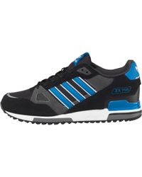 adidas Originals - Zx 750 Trainers Black/bluebird/white - Lyst