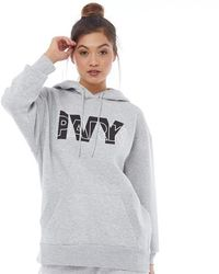 Ivy Park - Layer Logo Hoodie Light Grey Marl - Lyst