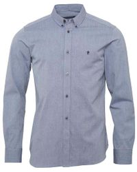 French Connection - Oxford Shirt Marine - Lyst