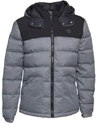 Bench - Wool Look Down Puffer Jacket Light Grey Marl - Lyst