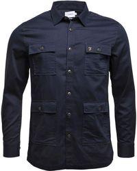 Farah - Mangrove Shirt True Navy - Lyst