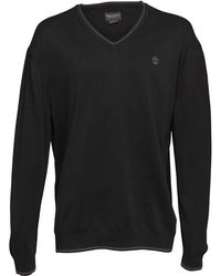 Timberland - Long Point V-neck Jumper Black - Lyst