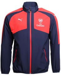 PUMA - Afc Arsenal Dwr Woven Track Jacket Peacoat/red - Lyst