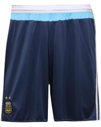 adidas - Afa Argentina Away Shorts Night Marine/white - Lyst