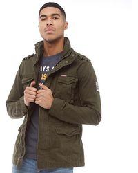 Superdry - Rookie Heavy Weather Field Jacket Dark Khaki - Lyst