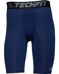 adidas - Base Techfit Climalite Compression Tight Shorts Dark Blue - Lyst
