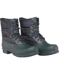 HUNTER - Original Quilted Lace Up Short Wellington Boots Ocean - Lyst