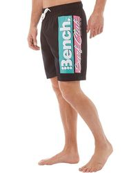 Bench - Corp Board Shorts Black - Lyst