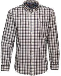 Ben Sherman - Long Sleeve Overcheck Shirt Cream - Lyst