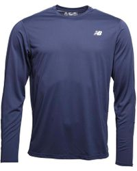 New Balance - Accelerate Long Sleeve Running Top Pigment Navy - Lyst
