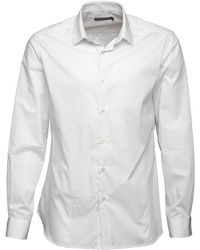 French Connection - Formal Printed Cut Shirt White - Lyst