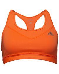 54d67a0327 adidas - Techfit Climacool Solid Sports Bra Top Glow Orange matte Silver -  Lyst