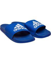 4ce37d6ed552f adidas - Adilette Cloudfoam Plus Slides Collegiate Royal footwear  White collegiate Royal - Lyst